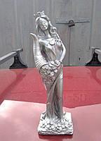 Статуэтка - денежный оберег богиня Фортуна, цвет - серебро, высота 31 см, фото 1