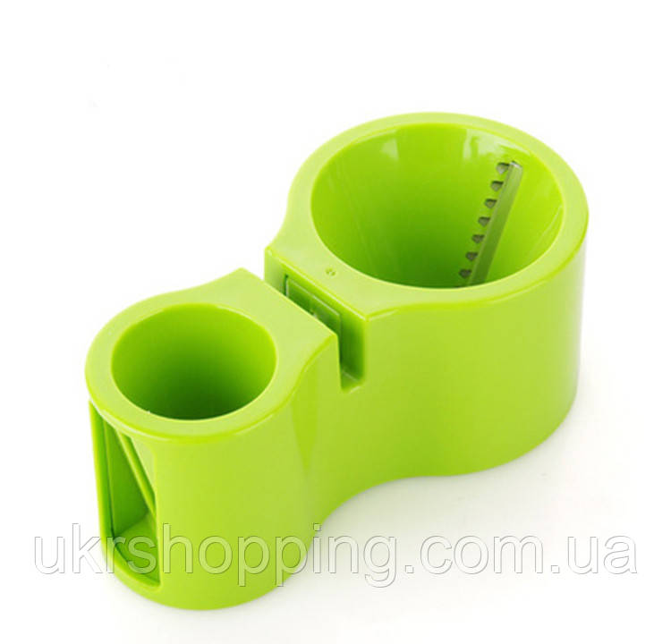 Спиральная овощерезка-терка Spiral Cutter - салатовая