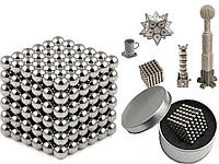 Конструктор из магнитных шариков, Неокуб Серебристый 216 шт*5мм, игрушка магнитные шарики (TI), фото 1