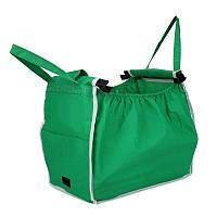 Складная сумка для покупок Grab Bag Snap-on-Cart Shopping Bag, с доставкой по Украине, фото 1