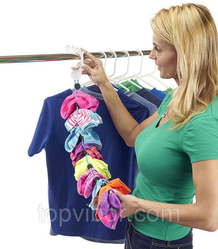 Распродажа! Органайзер, для хранения носков, Sock Dock, подвесной, для шкафа