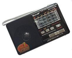 Радиоприемник c USB + Micro SD и аккумулятором, Golon RX-2277 Чёрный, с MP3 плеером от флешки (ST)