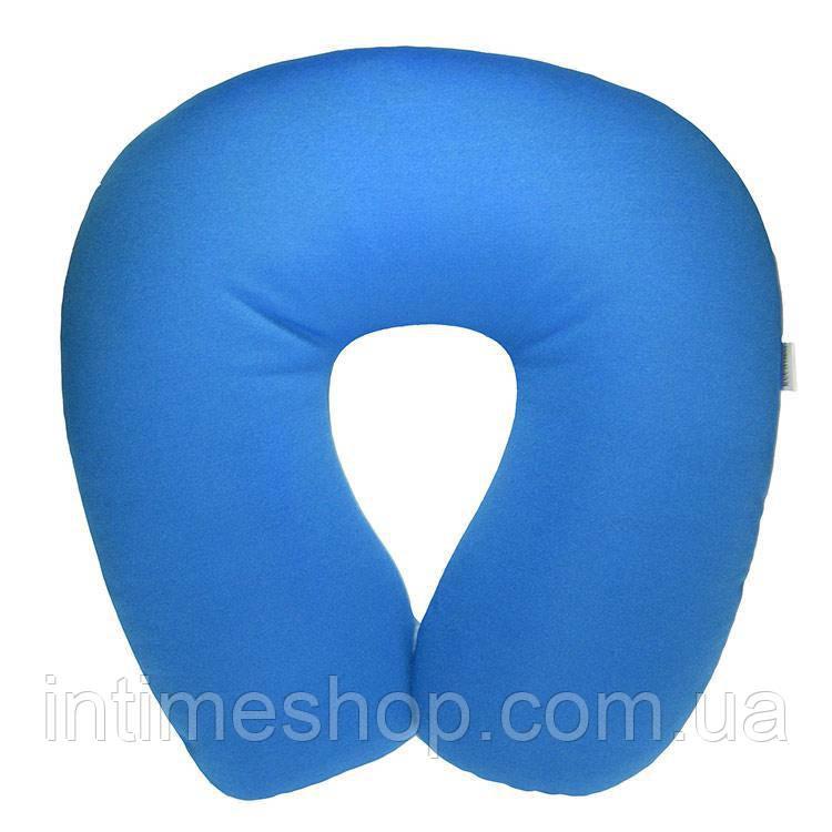 Подушка для самолета с памятью Memory Foam Travel Pillow - Голубая, с доставкой по Киеву и Украине