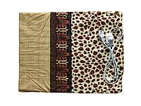 Электрическая грелка Чудесник Леопардовая с регулятором температуры 40х50 см, Электрогрелка (ST), фото 1