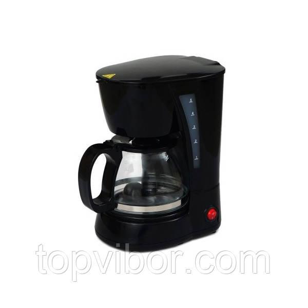 Кофеварка, электрическая, капельного типа, Domotec, MS-0707, с чашей и мерной ложкой (VT)