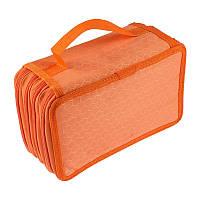 Пенал книжка, раскладной, на 4 отделения, цвет - оранжевый, (доставка по всей Украине), фото 1