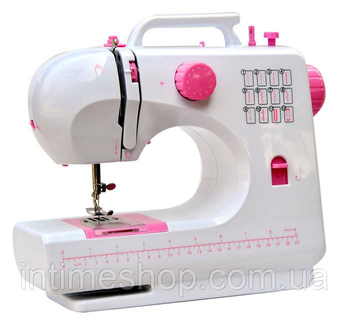 Міні швейна машинка FHSM-506 Tivax Рожева, портативна швейна машинка   маленькая швейная машинка