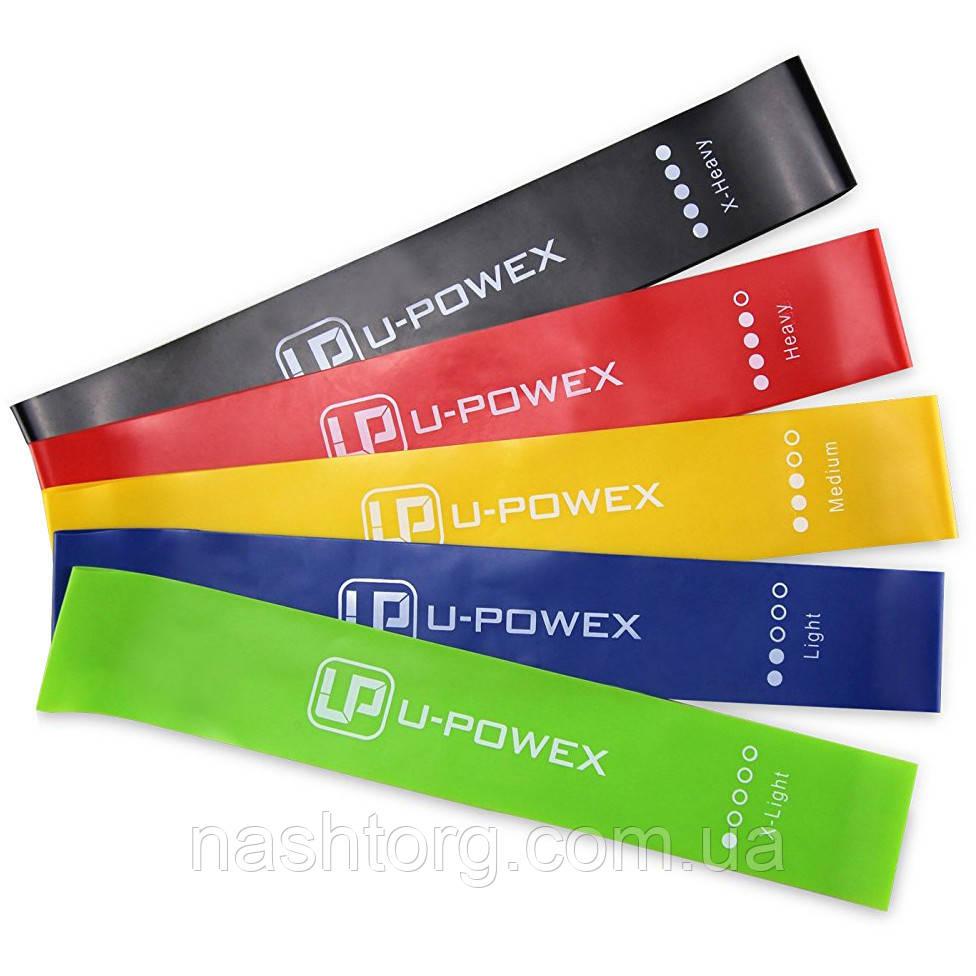 Спортивная Фитнес резинка для тренировок (57259) в наборе 5 цвеов, U-Powex (5 эспандеров./уп.)