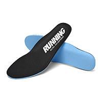 Стельки Running для спортивной обуви спортивные стельки для кроссовок черные 40р. (26см)