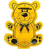 """Солевая грелка для детей """"Мишка"""" Желтый, многоразовая химическая грелка с солью (ST), фото 1"""