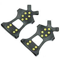 Ледоходы от производителя на 10 шипов размер XXL (48-52), антискользящие накладки на обувь   льодоступи (TS)