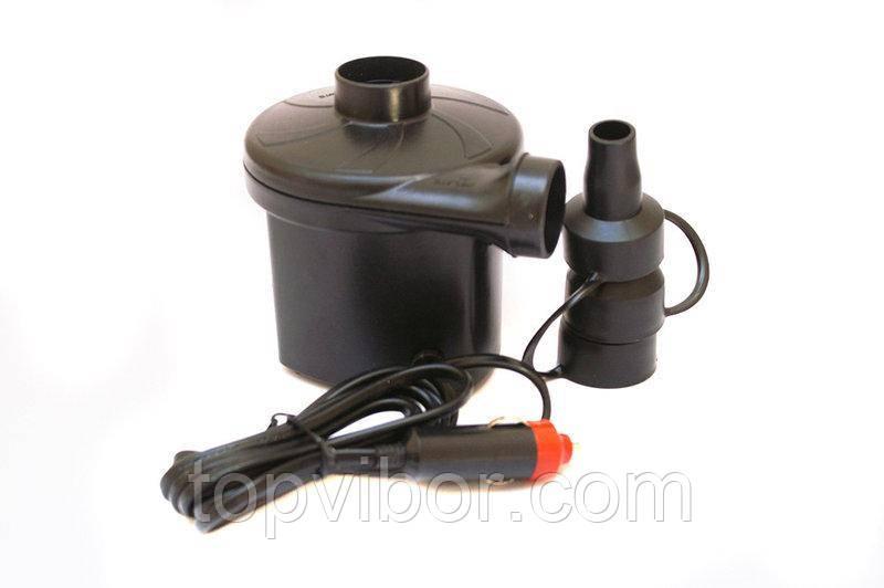 Электронасос от прикуривателя для надувного матраса, лодки, YF-207, электрический компрессор на 12 V