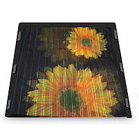 Москітна сітка на двері на магнітах Insta Screen (Magic Mesh) з соняшниками, антимоскітна шторка