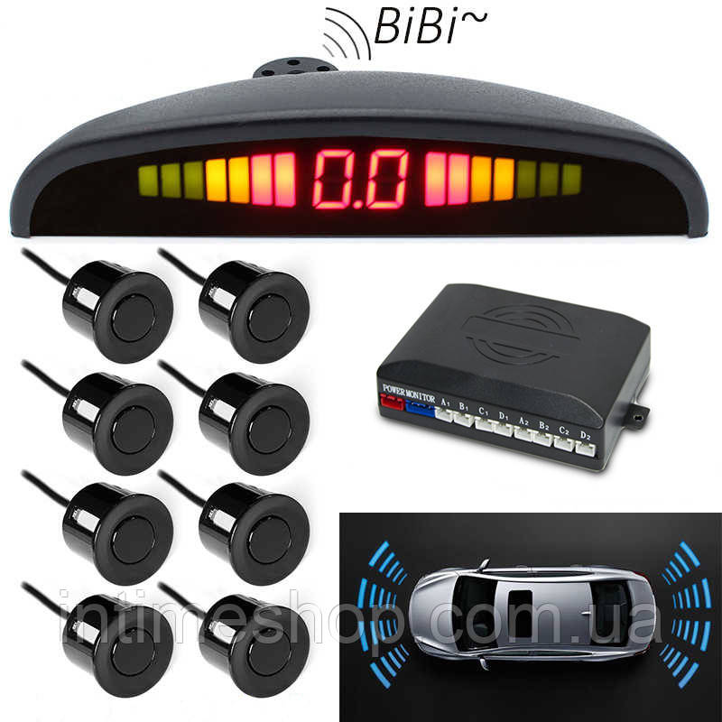 Парковочная система парктроник (8 датчиков парковки), Parking Sensor, парковочный радар на авто (TI)