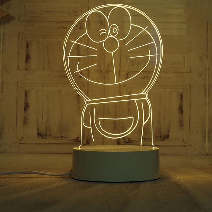 Светодиодный светильник, детский ночник, кот Дораэмон, (доставка по Украине)
