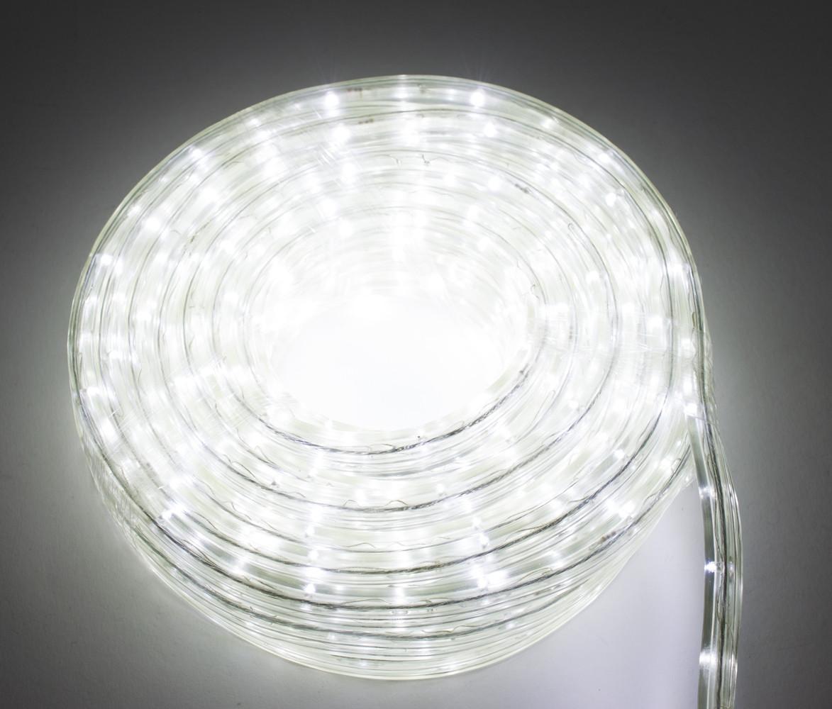 Светодиодная гирлянда дюралайт, уличная, LED (белый свет), 8 метров, (доставка по Украине)