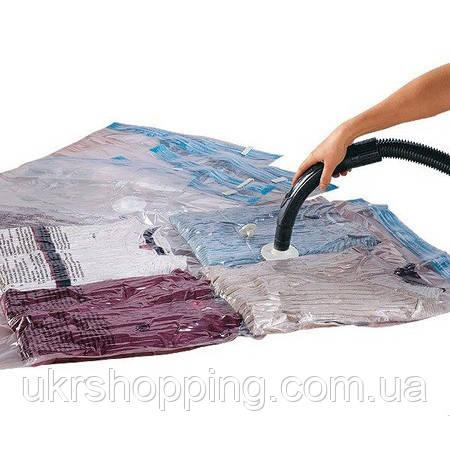 Вакуумные пакеты для одежды 70х100 см, вакуумные мешки для хранения вещей | вакуумні пакети (SH)