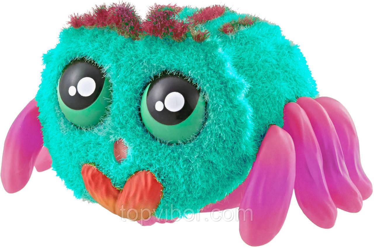 Интерактивная игрушка для детей паук (голубой+розовый) игрушечный паучок Yelies на батарейках интерактивный