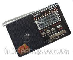 Радіоприймач c USB + microsd і акумулятором, Golon RX-2277 Чорний, з MP3 плеєром від флешки