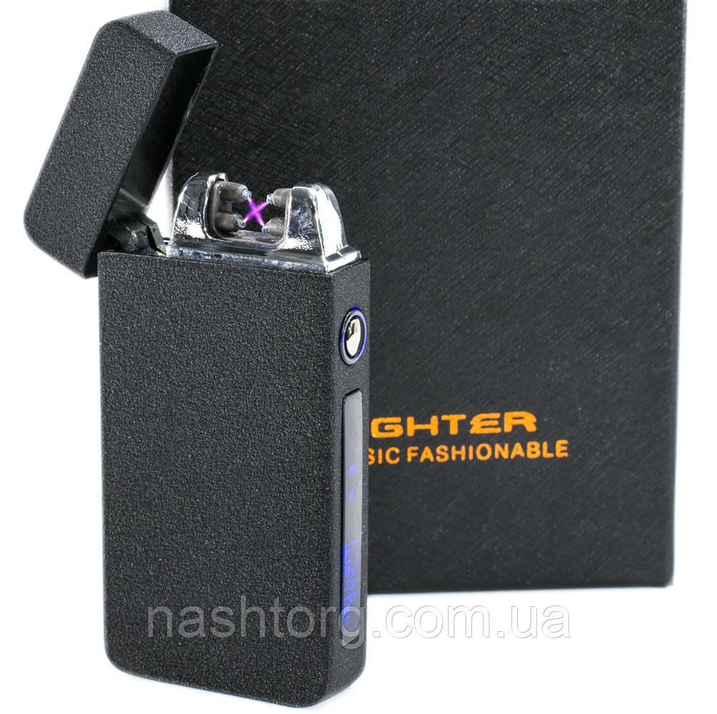 Электродуговая плазменная зажигалка, ZGP 19 Черная Матовая (4579) аккумуляторная импульсная от USB