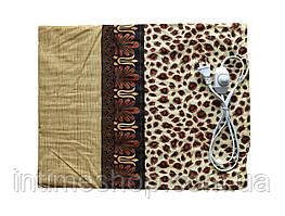 Электрическая грелка Чудесник Леопардовая с регулятором температуры 40х50 см, Электрогрелка (TI)