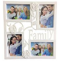 🔝 Мультирамка для фотографій, Family Rose (25), фоторамка колаж, на 4 фото | 🎁%🚚
