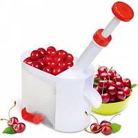 Прибор для удаления косточек из вишни, вишнечистка Белая, машинка для выдавливания косточек (TI)