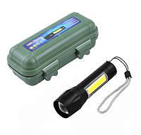 Компактний потужний акумуляторний LED ліхтарик USB COP BL-511 158000 W світлодіодний з фокусуванням, фото 1