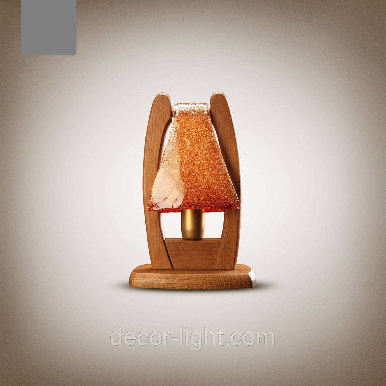 Настольная лампа деревянная  1401-1