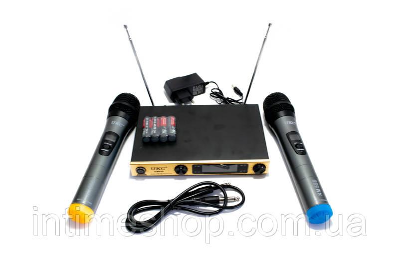 Караоке система для дома, 2 микрофона, UKC KM688, оборудование для караоке