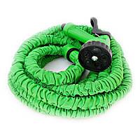 🔝 Шланг Xhose – поливальний Ікс-Госп 22,5 метрів з розпилювачем садовий для дачного поливу Зелений   🎁%🚚