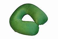 Подушка-подголовник для перелета Memory Foam Travel Pillow - Зеленая, с доставкой по Киеву и Украине, фото 1