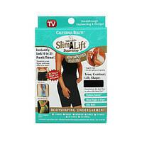 Корректирующее белье Эффект Слим cо съёмными бретельками (1 шт.) Чёрный XL, утягивающие шорты, фото 1
