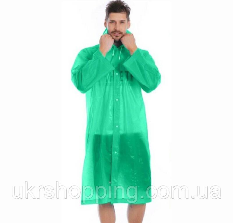 Дощовик, EVA Raincoat, плащ від дощу, зелений, плащ дощовик для риболовлі, з доставкою по Україні