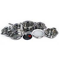 Распродажа! Набор кухонной посуды, из нержавеющей стали, Supretto, 16 предметов, фото 1