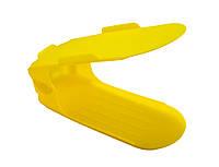 Распродажа! Двойная пластиковая стойка-подставка для хранения обуви - желтая (ACC), фото 1