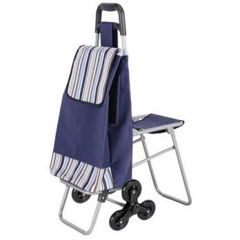 Хозяйственная сумка на колесиках Синяя, кравчучка, хоз сумка на колесах |  сумка на коліщатках (ST)