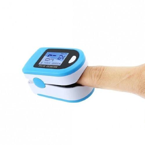 Пульсоксиметр для измерения пульса, сатурации (кислорода) в крови, X1906 голубой, пульсометр на палец