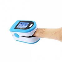Пульсоксиметр для измерения пульса, сатурации (кислорода) в крови, X1906 голубой, пульсометр на палец, фото 1
