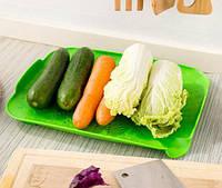 🔝 Підставка сушарка для фруктів та овочів посуду, друшляк-килимок для раковини, Зелений | 🎁%🚚, фото 1