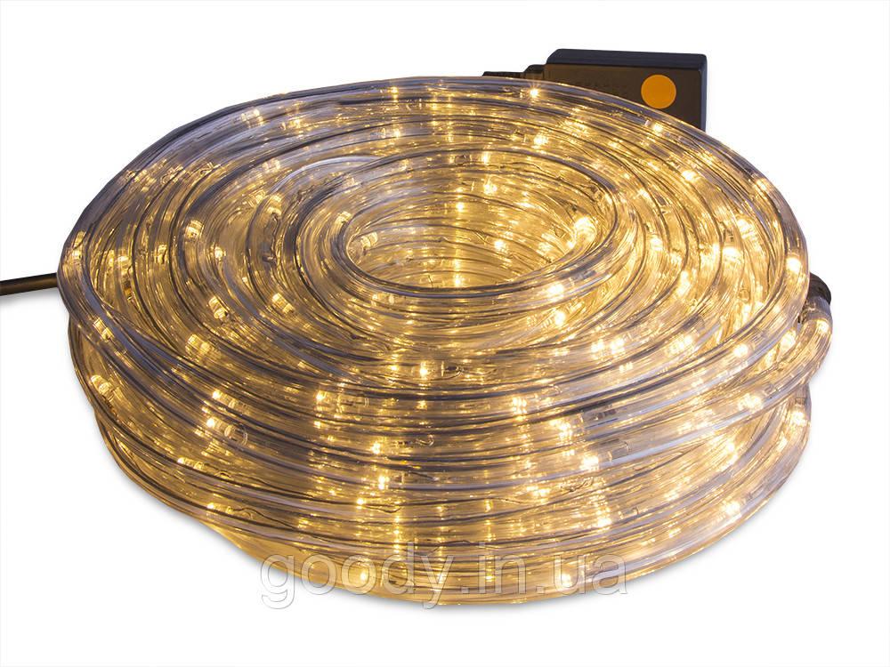 Дюрлайт світлодіодна гірлянда шланг LTL 180 LED 10м зовнішній - вуличний- теплий Wharm White з іскрою