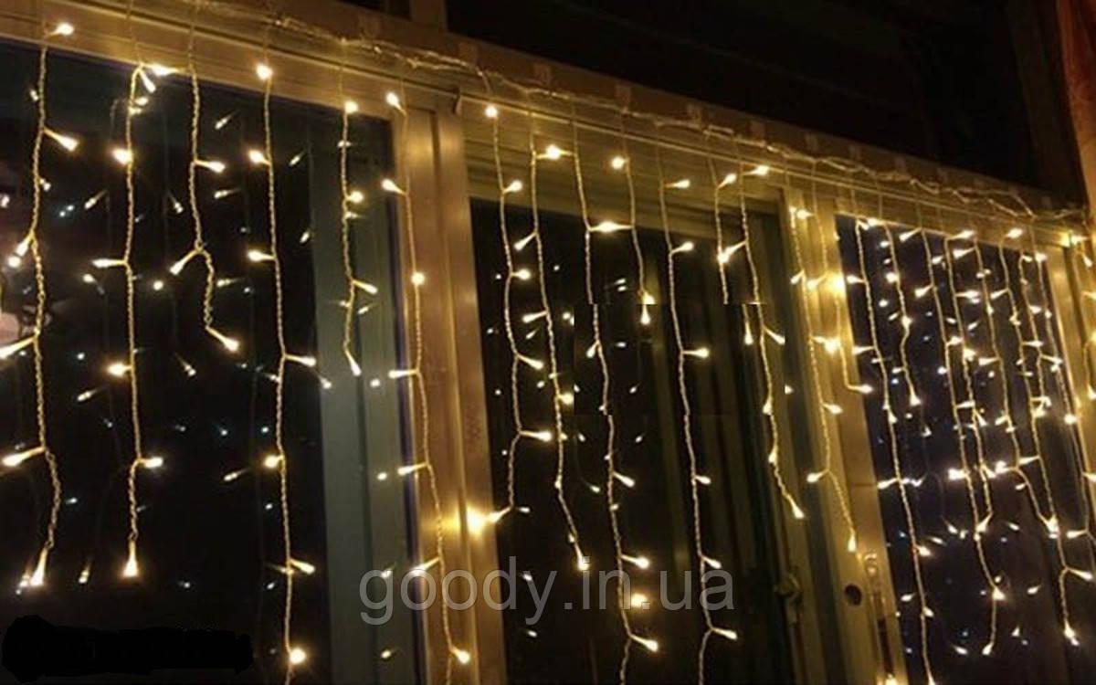 Світлодіодна Гірлянда LTL Sople (штора) 100 LED, 3.2 м теплий білий Warm White + перехідник