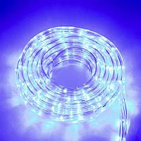 Дюралайт гирлянда для улицы на 8 метров, Синяя, LED гирлянды для дома   вулична гірлянда на ялинку, фото 1