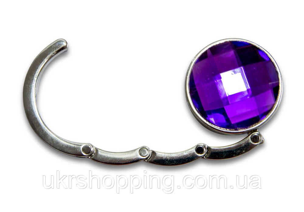 Держатель сумки, вешалка, Аметист, цвет - фиолетовый