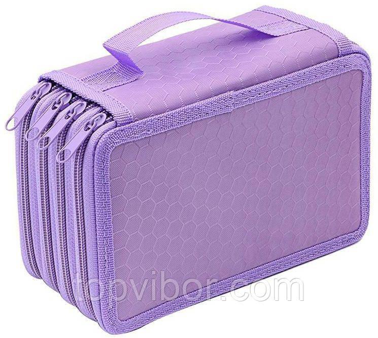 Детский пенал, в школу, для школьных принадлежностей, цвет - фиолетовый