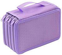 Детский пенал, в школу, для школьных принадлежностей, цвет - фиолетовый, фото 1