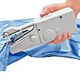 Ручна швейна машинка Handy Stitch Біла, портативна міні швейна машинка   швейная машинка ручная, фото 2