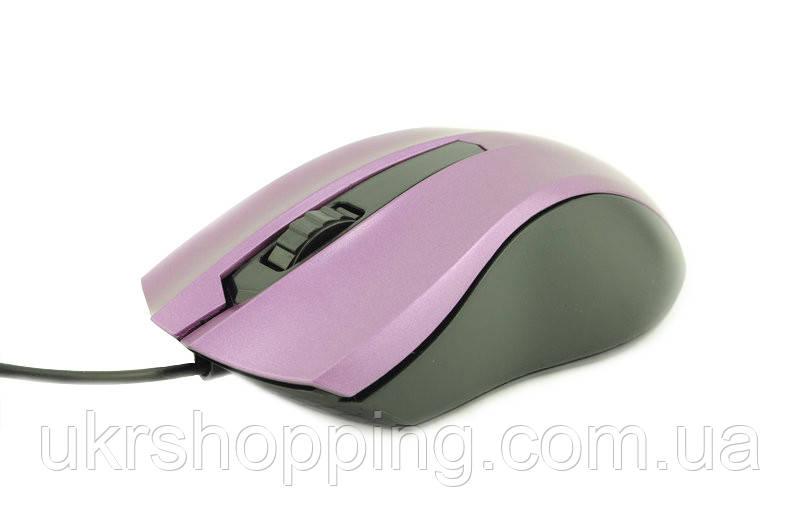🔝 Мишка для ноутбука, дротова, Counter Attack, оптична, колір - бузковий   🎁%🚚