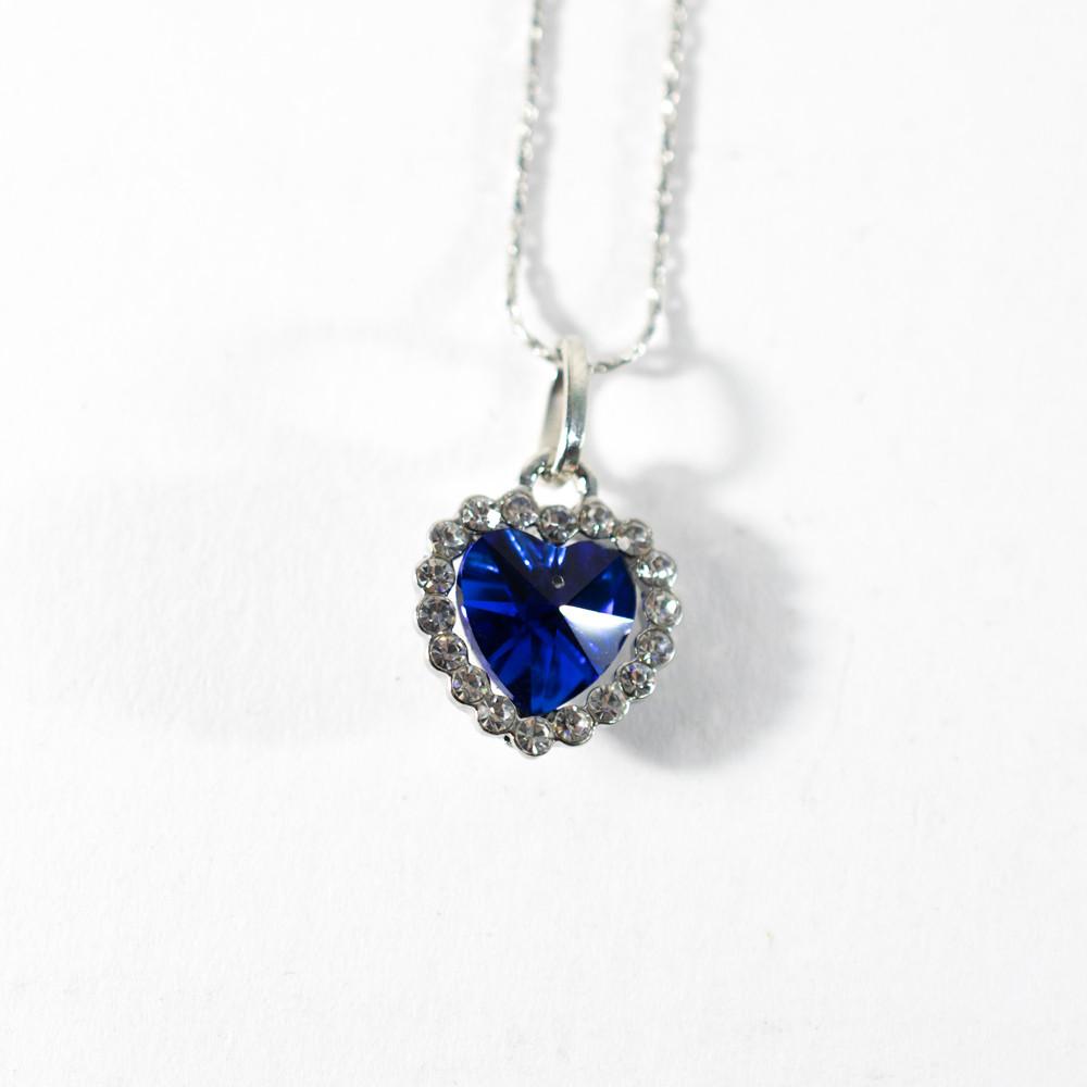 Распродажа! Сердце океана, бижутерия, цепочка, кулон. украшение на шею. Голубой, кулон для влюбленных (GK)