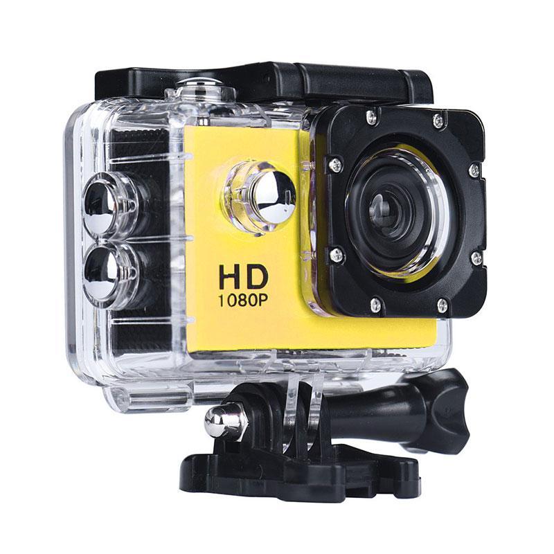 Нашлемная экстрим камера, A7 Sports Cam, HD 1080p, спортивная, водонепроницаемая, цвет - желтый (ST)